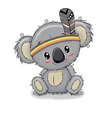 Galantéria - Nažehľovačka Koala s čelenkou malá - 10972670_