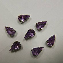 Iný materiál - Štrasové kamienky slzy 9x6 sklenené (Fialová) - 10973283_