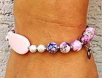Náramky - Náramok ružový - 10973420_
