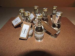 Darčeky pre svadobčanov - svadobné fľaštičky - 10972678_