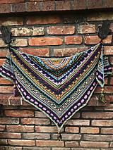 Šatky - Háčkovaný šátek lost in time mini - 10972915_