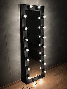 Zrkadlá - Veľký čierny rám na zrkadlo - 10970903_