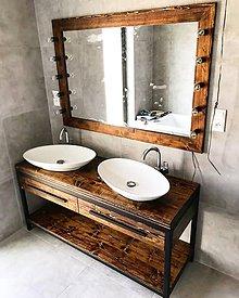 Nábytok - Kúpeľnový set pre dve umývadlá + Rám na zrkadlo - 10971132_