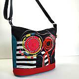 """Veľké tašky - Kabelka """"A čierna je pestrá"""" - 10972591_"""