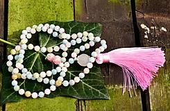 Náhrdelníky - Morganitový mala náhrdelník - 10973218_