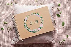 Papiernictvo - Kniha hostí a krabička nature nežné kvety/ súprava - 10972035_