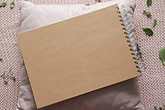Papiernictvo - Kniha hostí a krabička nature nežné kvety/ súprava - 10972038_