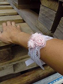 Náramky - Pre družičky ružove - 10971540_