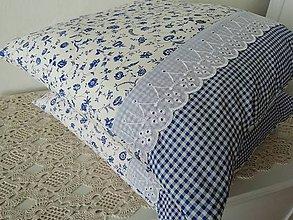 Úžitkový textil - povlak cibulák s kostkou - 10977154_