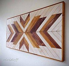 Obrazy - drevný obraz geometry - 10974251_