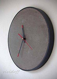 Hodiny - hodiny betonovokovové - 10976734_