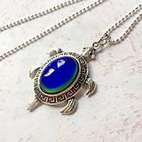 Náhrdelníky - Mood Color Changing Turtle Necklace / Náhrdelník korytnačka meniaci fabru podľa nálady - 10976503_