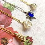 Náhrdelníky - Golden Shell Necklace / Letný náhrdelník s lastúrou - 10976597_