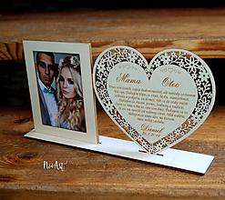 Darčeky pre svadobčanov - Poďakovanie rodičom 40 - 10976897_