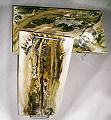 Nádoby - lel boho podnos ,,smaragd mineral - 10975450_
