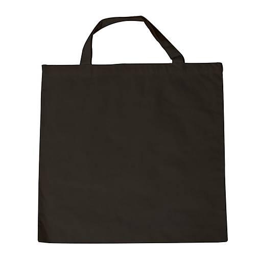 Bavlnená taška, 42x38 cm, krátke ucho, čierna