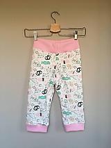Detské oblečenie - Tepláky zverinec ružová - 10975965_