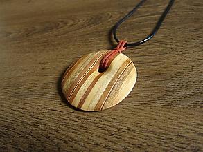 Iné šperky - Drevený náhrdelník - 10974700_