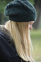 Čiapky - baret zelený - 10973790_