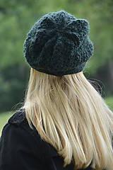 Čiapky - baret zelený - 10973793_