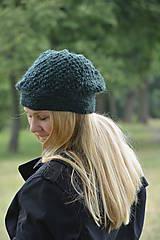 Čiapky - baret zelený - 10973794_