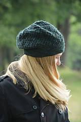 Čiapky - baret zelený - 10973803_