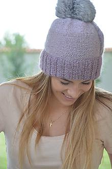 Čiapky - něžné fialkové - 10973726_