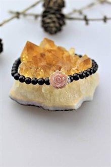Náramky - turmalínový náramok s perleťou - 10976459_