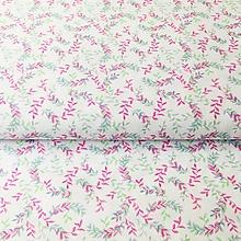 Textil - ružovo-tyrkysové venčeky, 100 % bavlna Nemecko - 10974768_