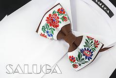 Detské doplnky - Detský folklórny motýlik - hnedý - ľudový - 10975771_
