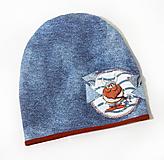 Detské čiapky - Dvojvrstvová čiapka - viking - 10975290_