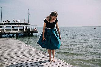 Sukne - folkloristka smaragdovo zelená - 10974482_