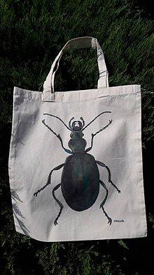 Nákupné tašky - Bavlnená taška Chrobák - 10975667_