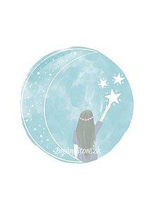 "Grafika - Ilustrácia  ""Dotknem sa hviezd"" - 10975808_"