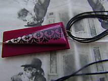 Náhrdelníky - Bordový  náhrdelník - 10973652_