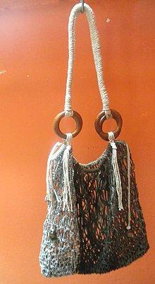 Nákupné tašky - Macrame sieťovka Natural - 10974670_