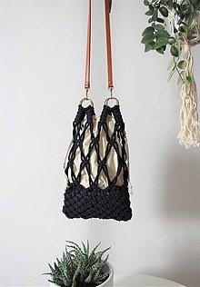 Kabelky - Makramé taška ZOYA (Modrá) - 10974223_