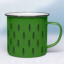 Nádoby - Zelený smaltovaný hrnček - 10973666_