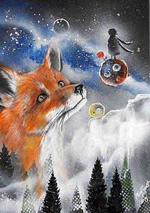 Obrazy - malý princ a líška - 10975112_