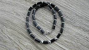 Šperky - Pánsky náhrdelník okolo krku drevený jin-jang, č. 2830 - 10975817_