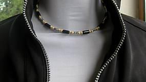 Šperky - Pánsky náhrdelník okolo krku drevený - 10975826_