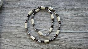 Šperky - Pánsky náhrdelník okolo krku drevený - 10976013_