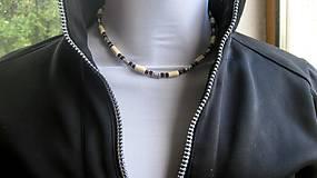 Šperky - Pánsky náhrdelník okolo krku drevený - 10976017_