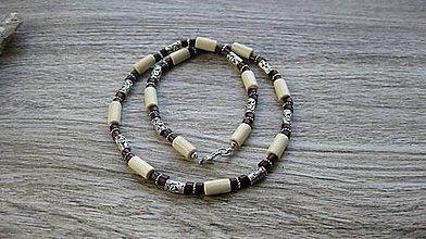 Šperky - Pánsky náhrdelník okolo krku drevený (svetlý č. 2832) - 10976015_