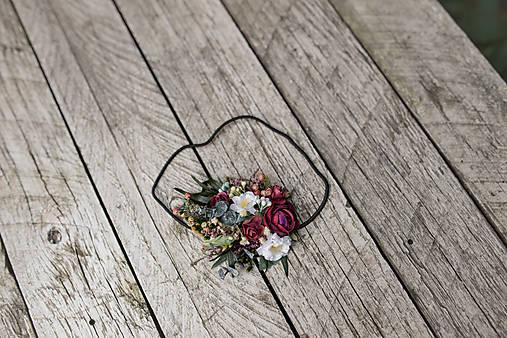 """Kvetinová čelenka na gumičke """"pošepkám ti"""""""