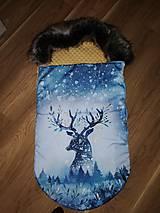 Textil - Zimný fusák do kočíka - 10973647_