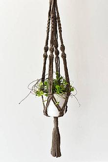 Dekorácie - Závesný držiak na kvetiny - coffee - 10974556_