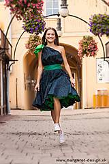 Šaty - Zelené štýlové šaty - 10974889_
