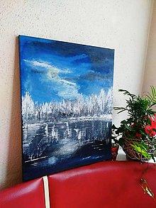 Obrazy - Zima pri jazere - 10975636_