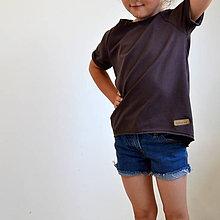 Detské oblečenie - Tričko Vilma hnedé - 10973796_